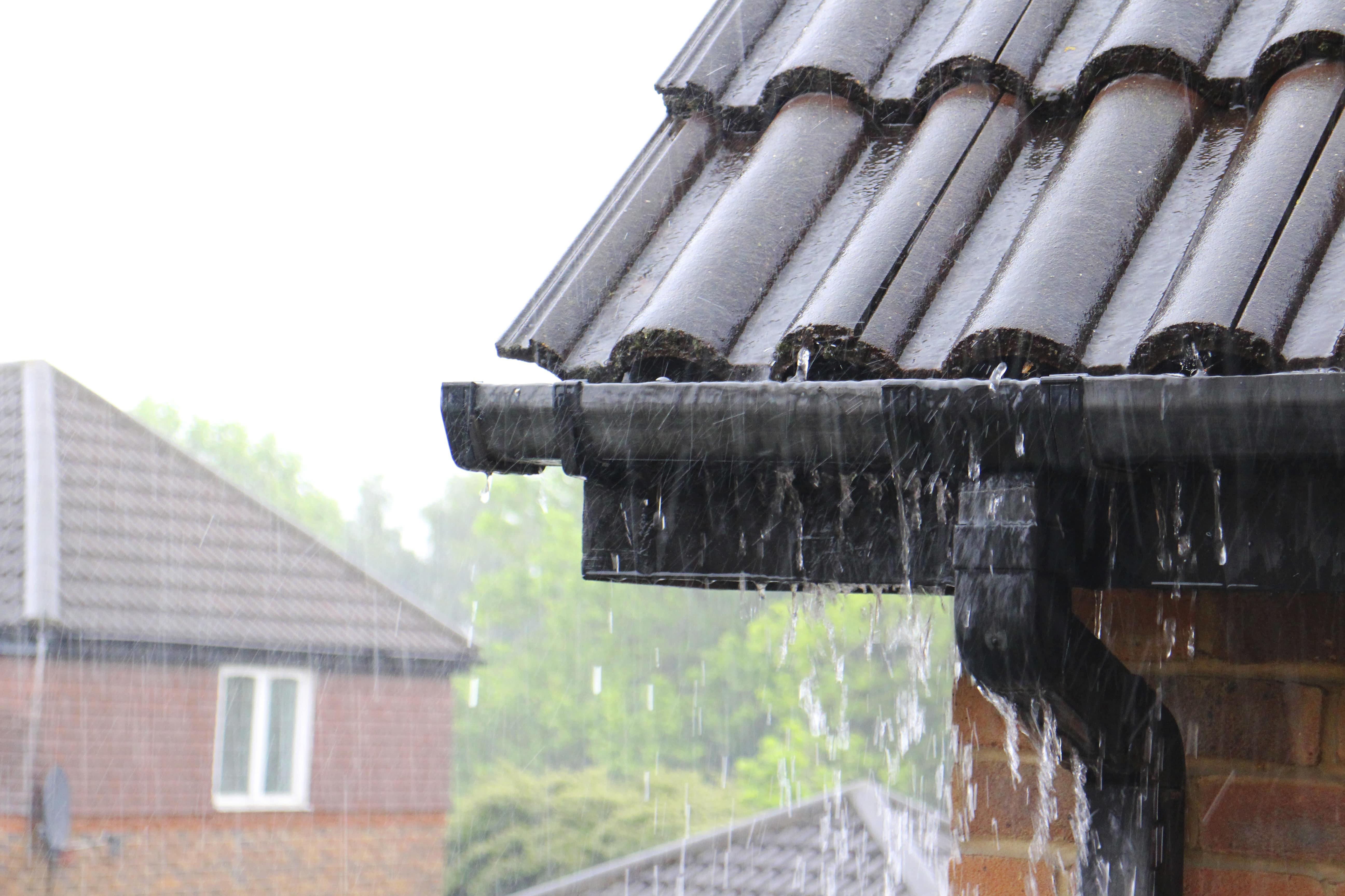 roof in heavy rain