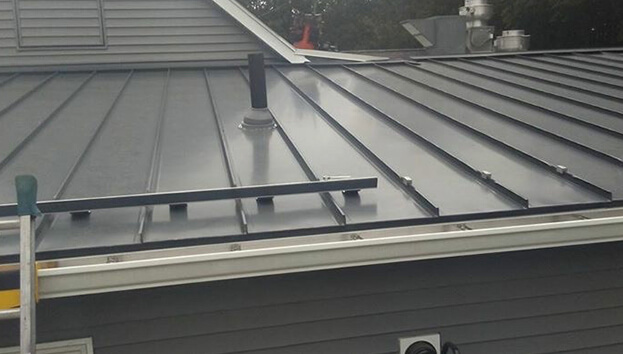 Metal roofing installed by roofing company